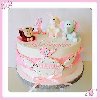 1st birthday cake :) - Cake by Tatlı Dünyalar by Vildan Özkara