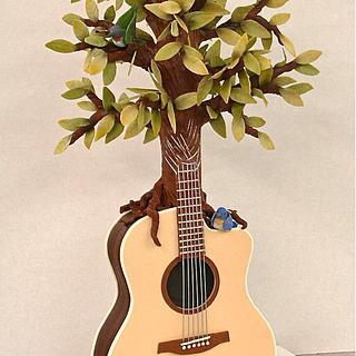 Guitar-Tree Cake