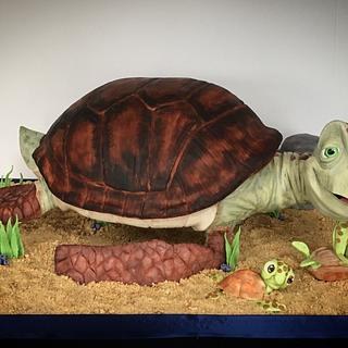 Crush the sea turtle  - Cake by Becky