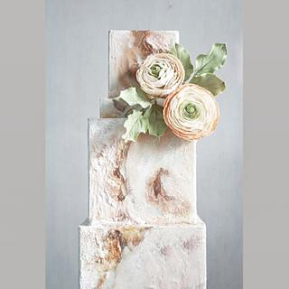 Honed Marble and Ranunculus