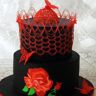 Embroidery in Royal icing