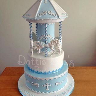 Christening Carousel Cake