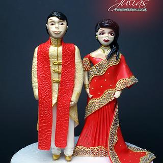 Asian Bride and Groom toppers