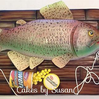 Fish grooms cake