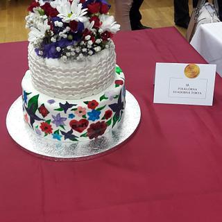 Folklore wedding cake