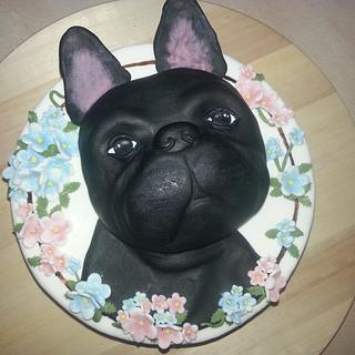 French bulldog - Cake by Zuzkine Dortíky