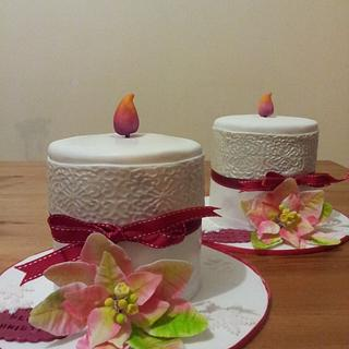Two candles cakes for two special ladies