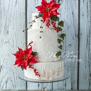 White Christmas - Cake by Hazel Wong Cake Design