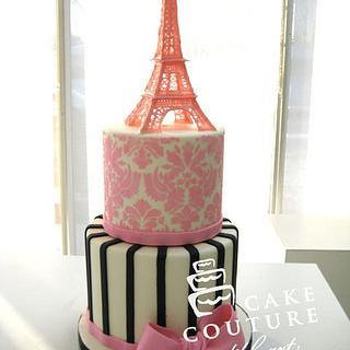 Paris... Bridal shower cake