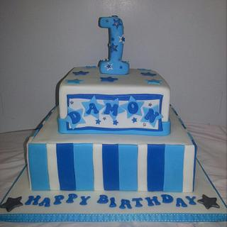 blue 1st birthday - Cake by jodie baker