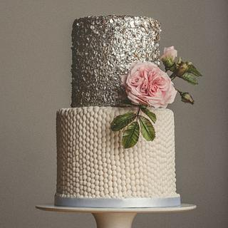 Silver sequins cake