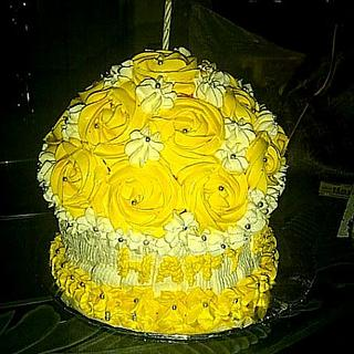 Yellow roses Giant cupcakes