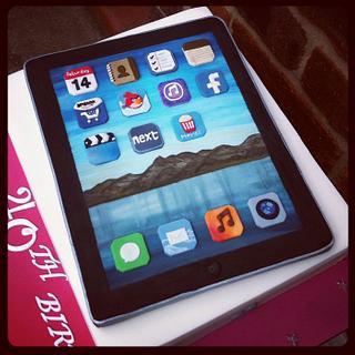 iPad cookie on iPad box cake - Cake by Netty
