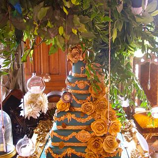 Wedding cake at Carlton Towers - Cake by Lynette Horner
