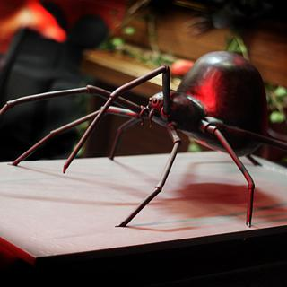 Black Widow Spider Wedding Cake