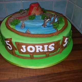 A Mosasaurus cake