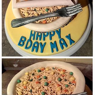 Mr. Noodles Bowl Cake
