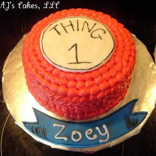 Thing 1 and Thing 2 Cakes