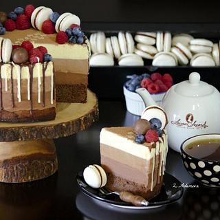 Triple chocolate mousse cake!.....