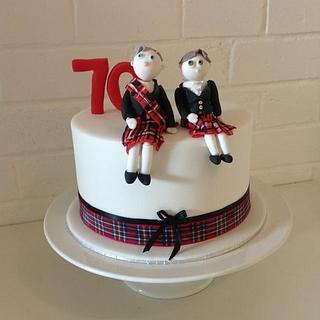 Scottish themed cake