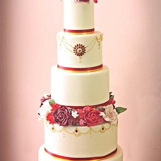Asian inspired wedding cake