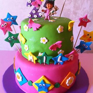 Dora cake Girl's Birthday cakes  كيكة دورا