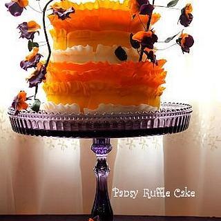 PANSY RUFFLE CAKE