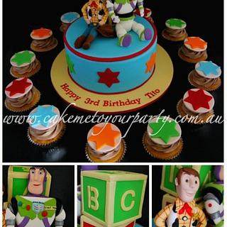 Woody and Buzz- Toy Story Cake