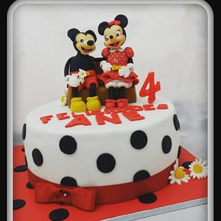 Mikey and minnie - Cake by Glasé Santander