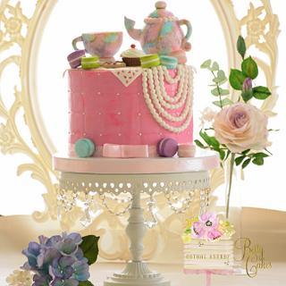 Vintage Tea party Cake
