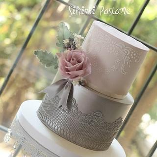 Silver Lace Cake