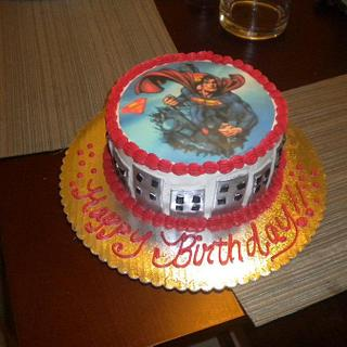 Superman Cake/w edible image
