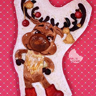 Christmas raindeer cookie