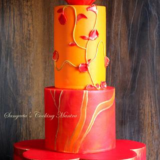 Wedding cake - Bold and beautiful !