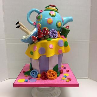 Whimsy Alice in Wonderland - Cake by Frilled Cakery - Ruthy Miranda