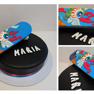 Maria's Skateboard Cake