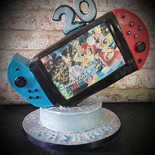 Nintendo Switch Birthday Cake