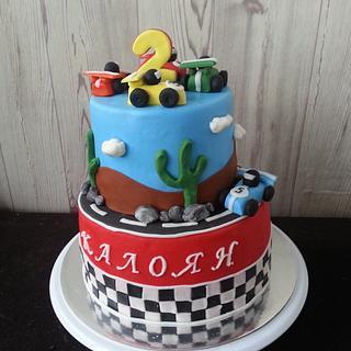 Cake with cars - Cake by Gabriela Angelova