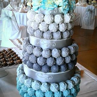 Cake Bite Wedding Cake