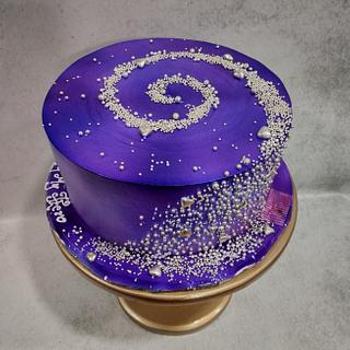 Galaxy cake  - Cake by Michelle's Sweet Temptation