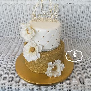 Quilted sequin cake - Cake by The Charming Gourmet