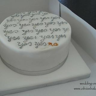 engagement cake - Cake by Olivia's Bakery