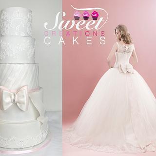 Romantic wedding cake - Cake by Sweet Creations Cakes