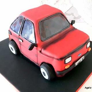 Fiat 126p - Cake by Agnieszka