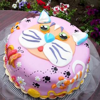 Cat cake - Cake by Crisan Monica/Mimi Cake Figurines