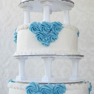 Re-creation of vintage buttercream wedding cake