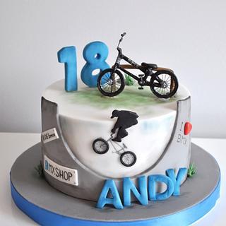 Love for  BMX bike - Cake by CakesVIZ