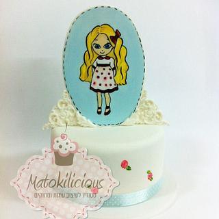 Cute girl cake