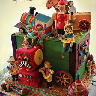 Vintage Toys - Cake by La Belle Aurore