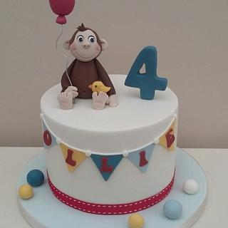 Curious George  - Cake by The Buttercream Pantry